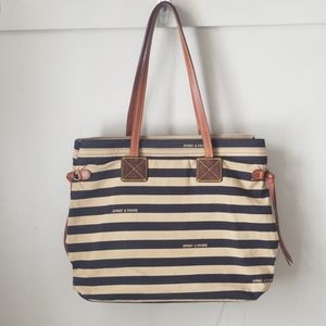 Dooney and Bourke tote purse leather accents